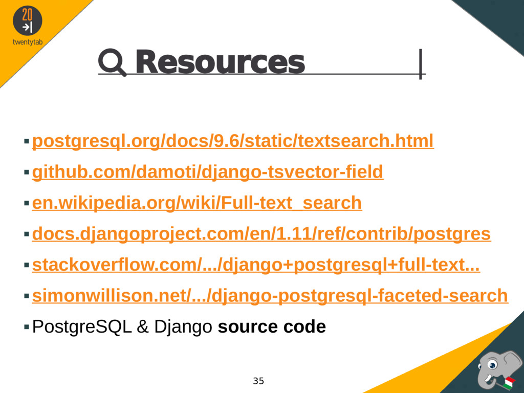  Resources | ▪postgresql.org/docs/9.6/static/t...
