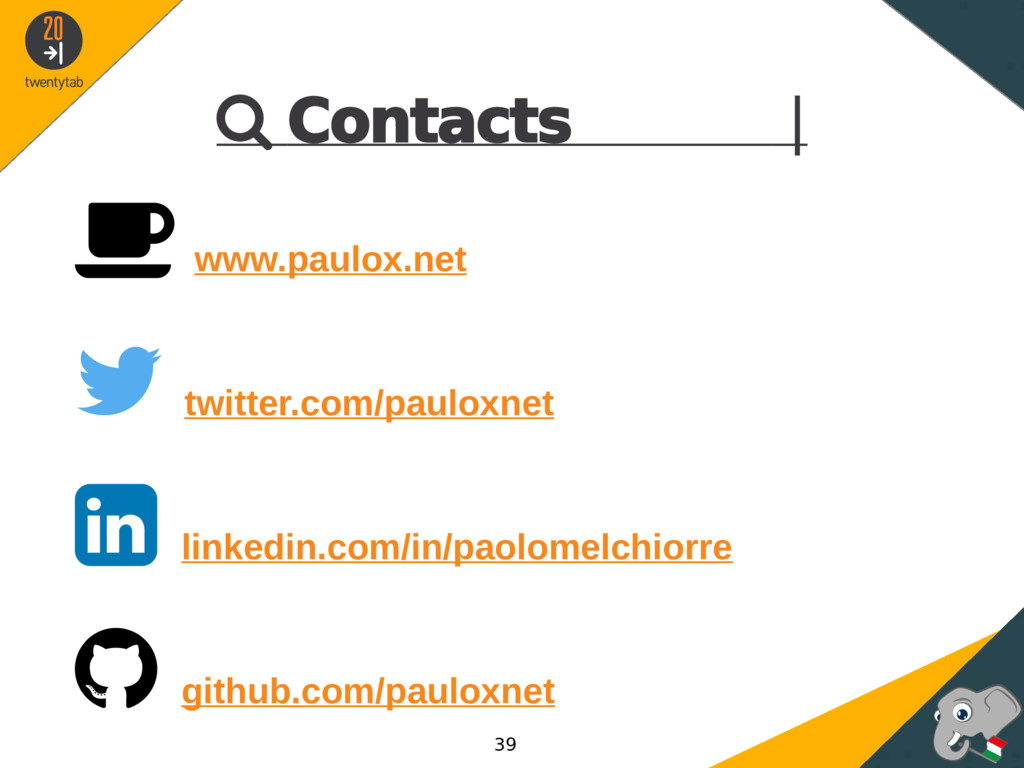  Contacts |  www.paulox.net  twitter.com/pau...