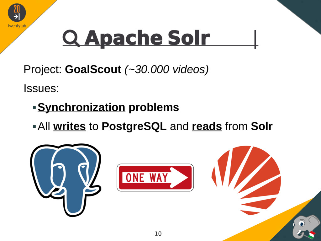  Apache Solr | Project: GoalScout (~30.000 vid...