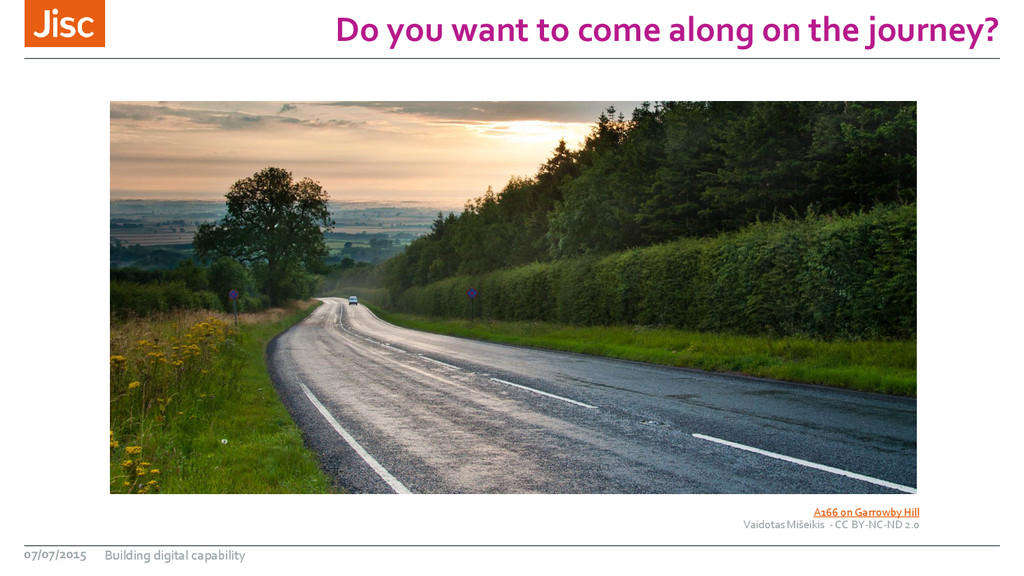 Do you want to come along on the journey? A166 ...