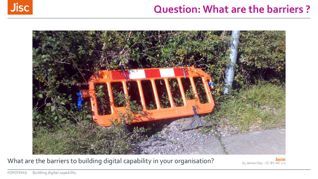 Question: What are the barriers ? What are the ...