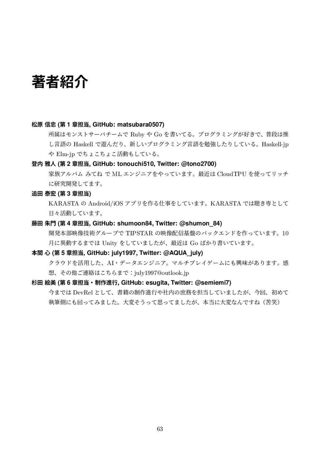 ஶऀհ দݪ ৴ (ୈ 1 ষ୲, GitHub: matsubara0507) ॴଐ...