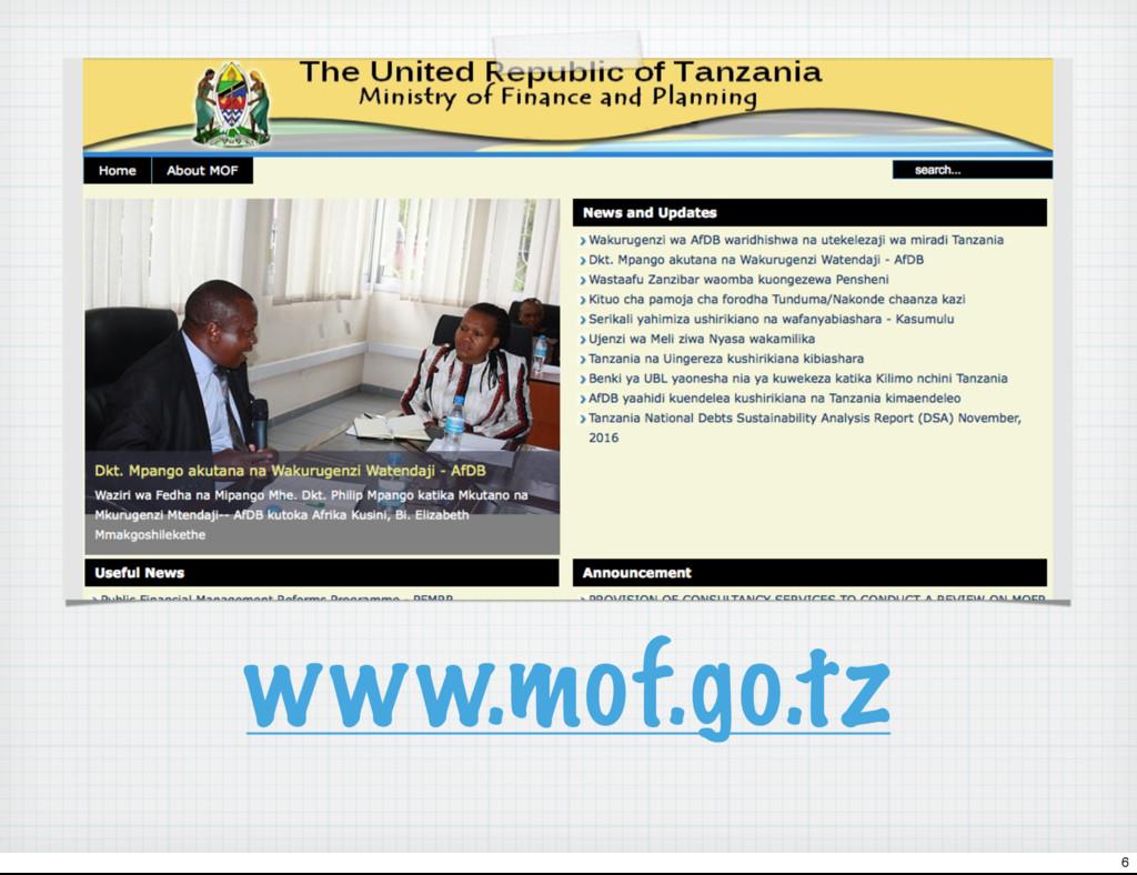 www.mof.go.tz 6