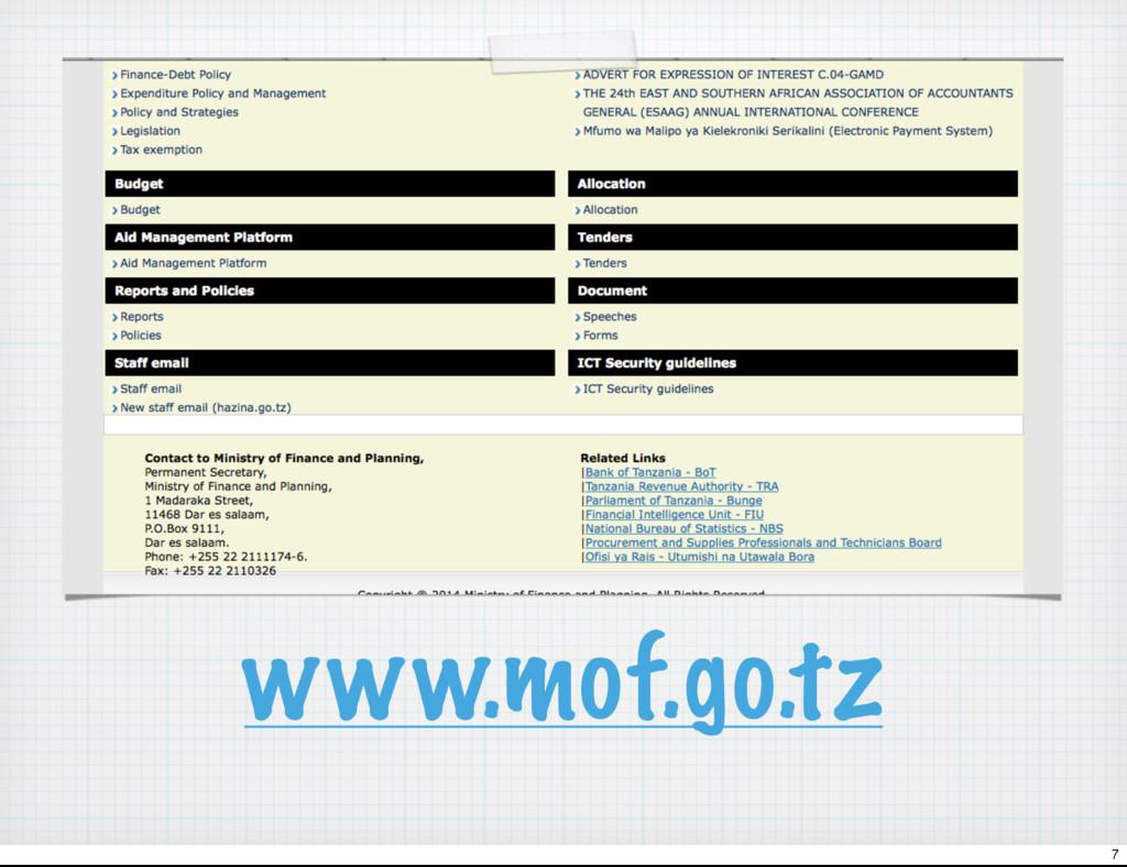 www.mof.go.tz 7