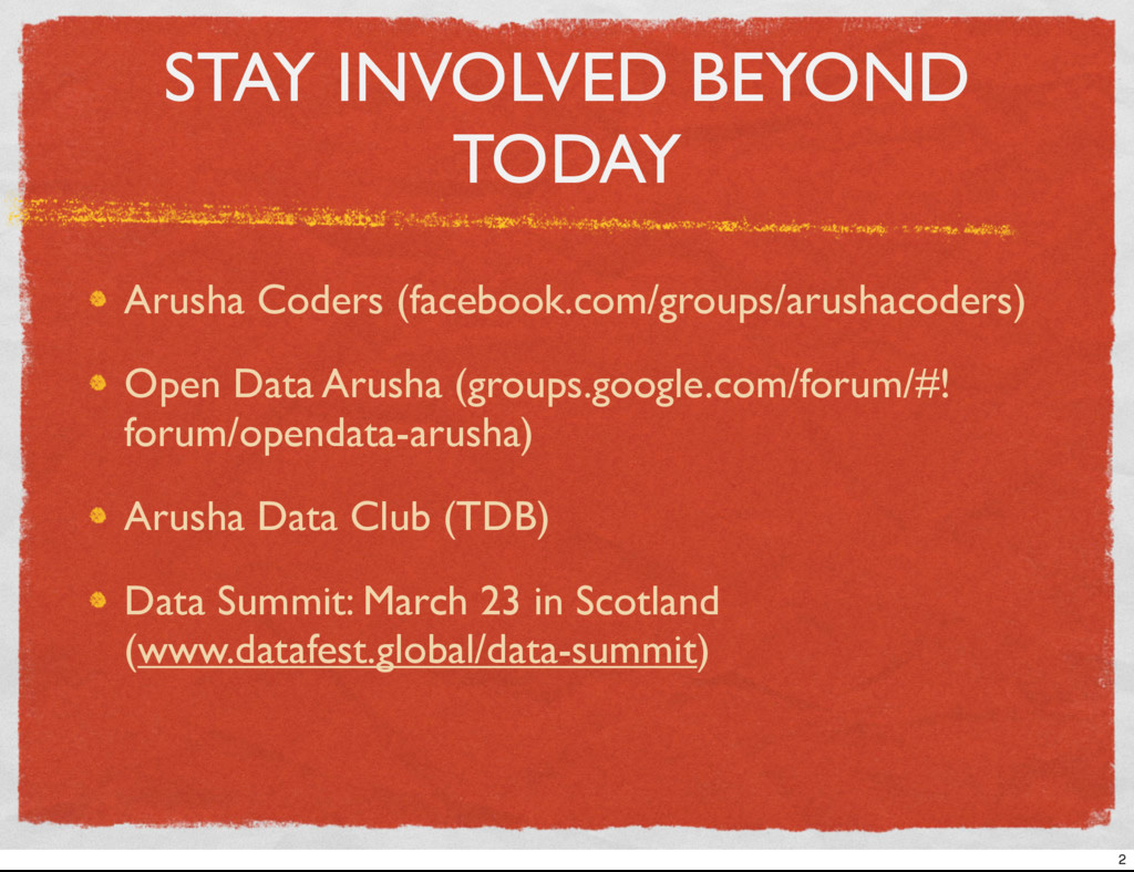 STAY INVOLVED BEYOND TODAY Arusha Coders (faceb...