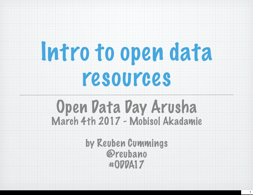 Intro to open data resources Open Data Day Arus...