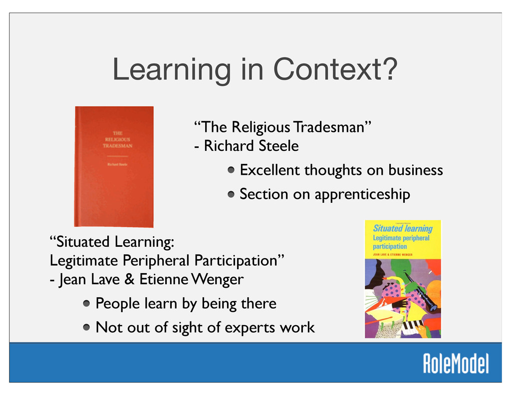 "Learning in Context? ""Situated Learning: Legiti..."
