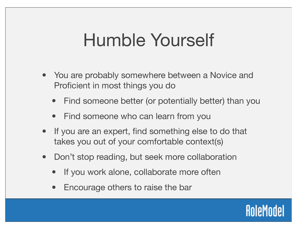 Humble Yourself • You are probably somewhere be...