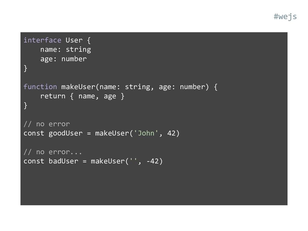 interface User { name: string age: number } fun...