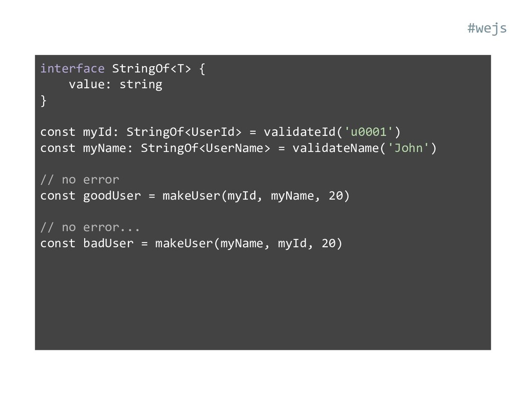interface StringOf<T> { value: string } const m...