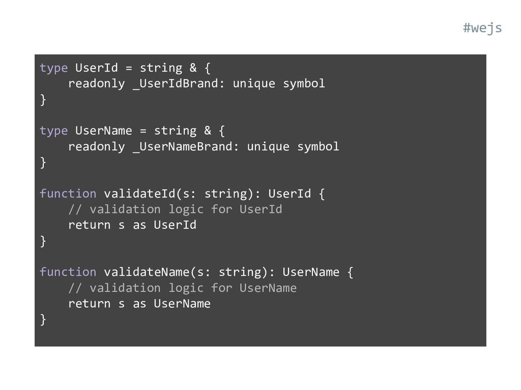 type UserId = string & { readonly _UserIdBrand:...