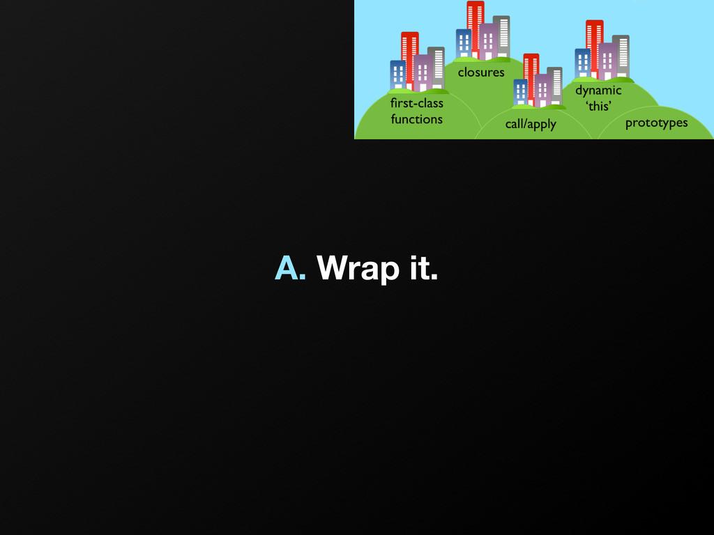 A. Wrap it.