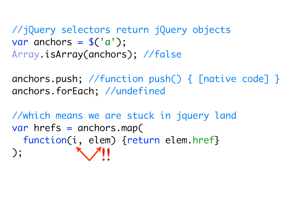 //jQuery selectors return jQuery objects var an...