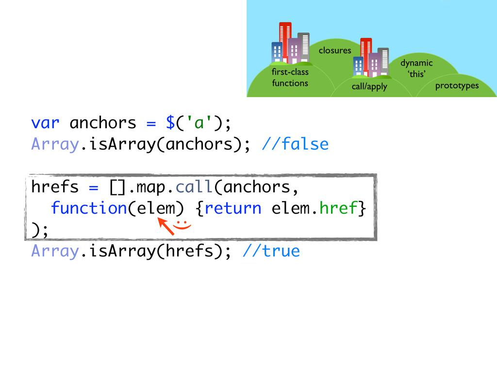 var anchors = $('a'); Array.isArray(anchors); /...