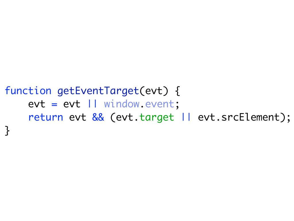 function getEventTarget(evt) { evt = evt || win...