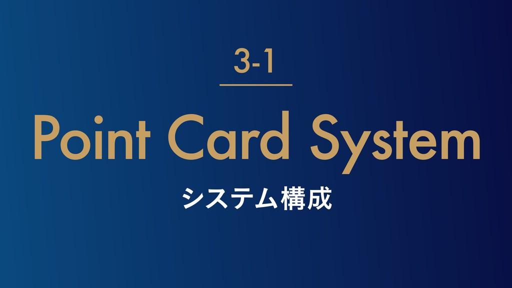 γεςϜߏ Point Card System 3-1