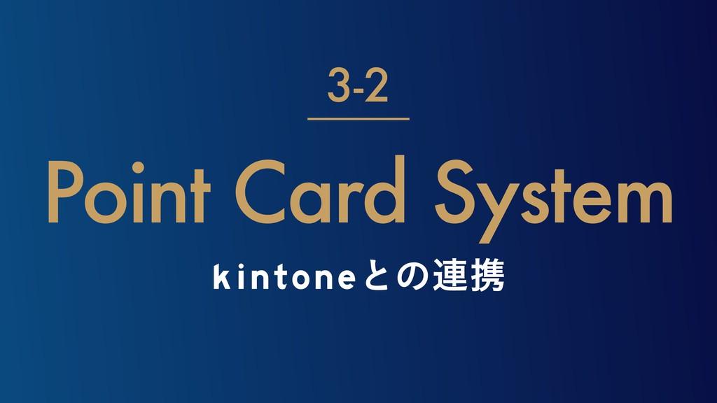 kintoneͱͷ࿈ܞ Point Card System 3-2