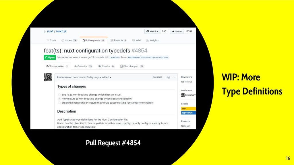 WIP: More Type Definitions 16 Pull Request #4854