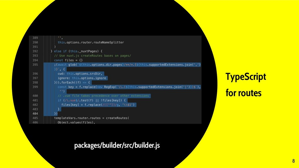 TypeScript for routes 8 packages/builder/src/bu...