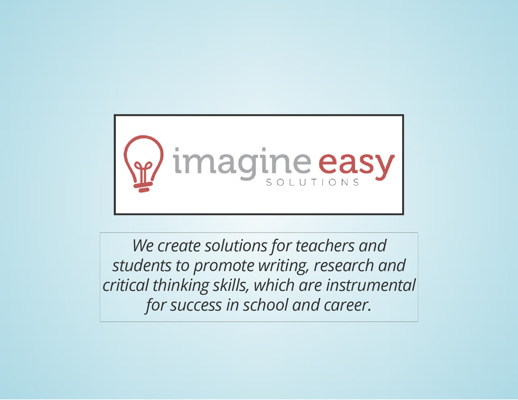 We create solutions for teachers and students t...