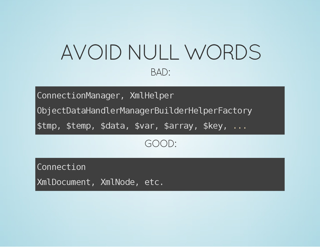 AVOID NULL WORDS BAD: C o n n e c t i o n M a n...