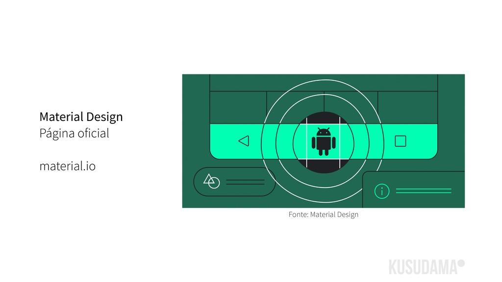 Material Design Página oficial material.io Font...