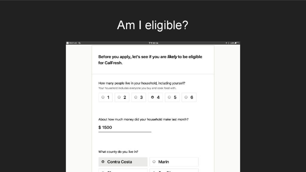 Am I eligible?