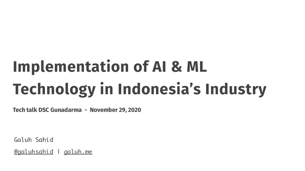 Implementation of AI & ML Technology in Indones...