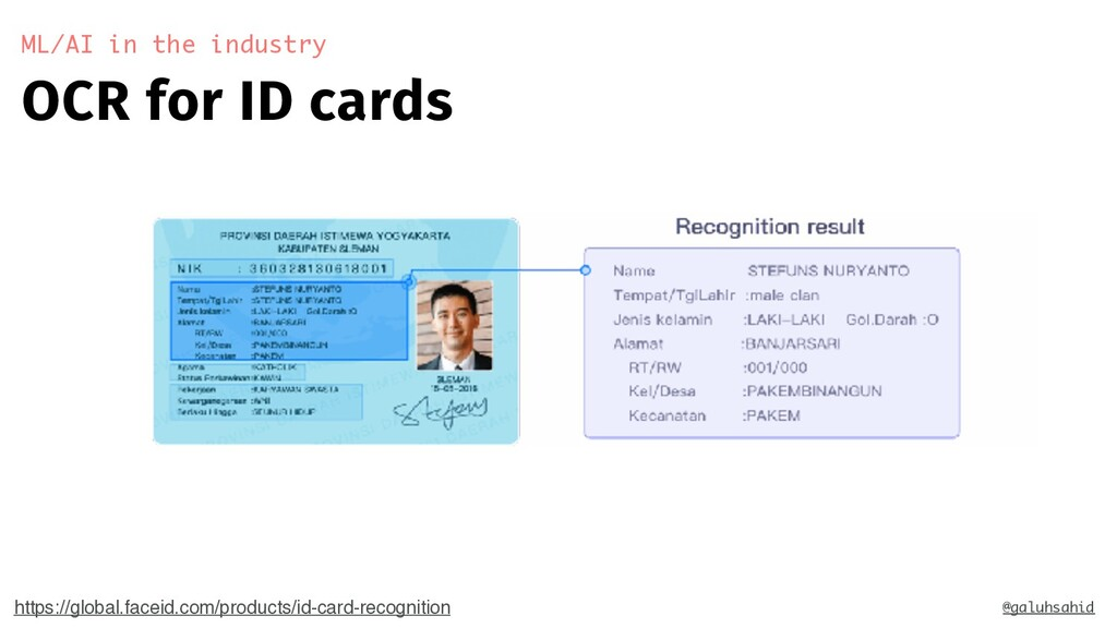 OCR for ID cards ML/AI in the industry @galuhsa...