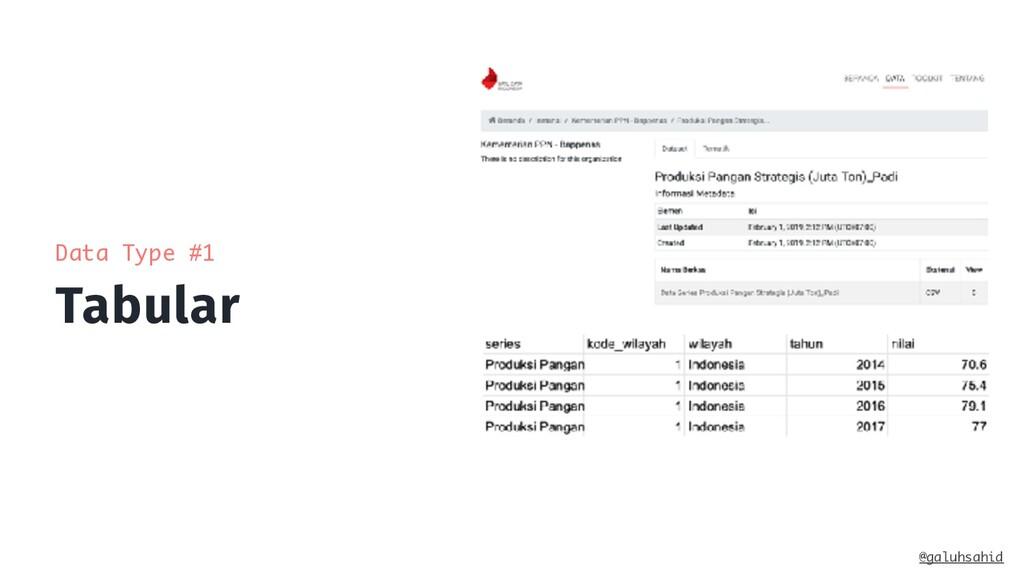 Tabular @galuhsahid Data Type #1