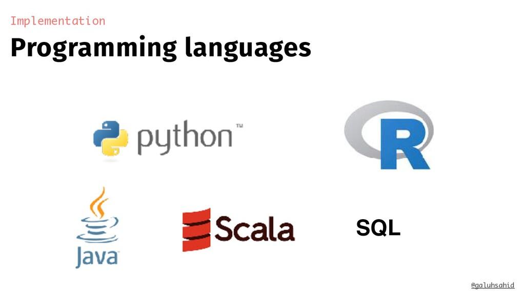 Programming languages Implementation @galuhsahi...