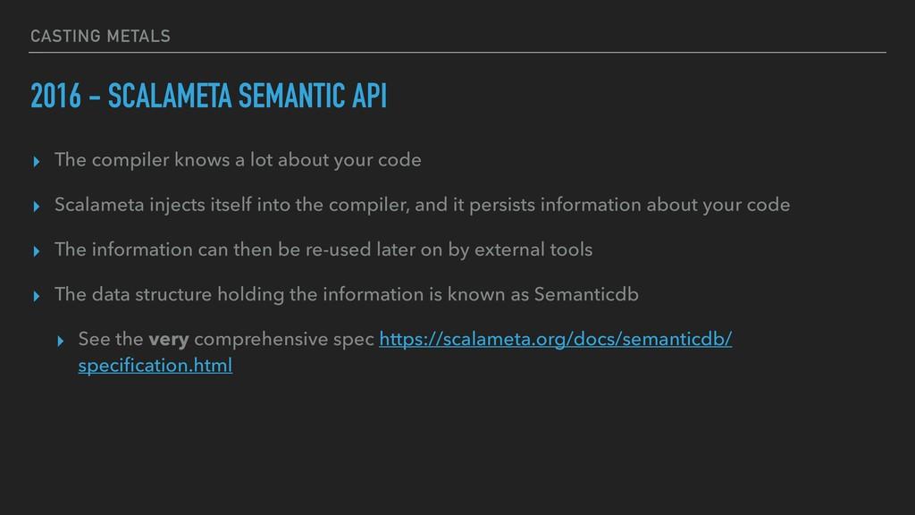 CASTING METALS 2016 - SCALAMETA SEMANTIC API ▸ ...