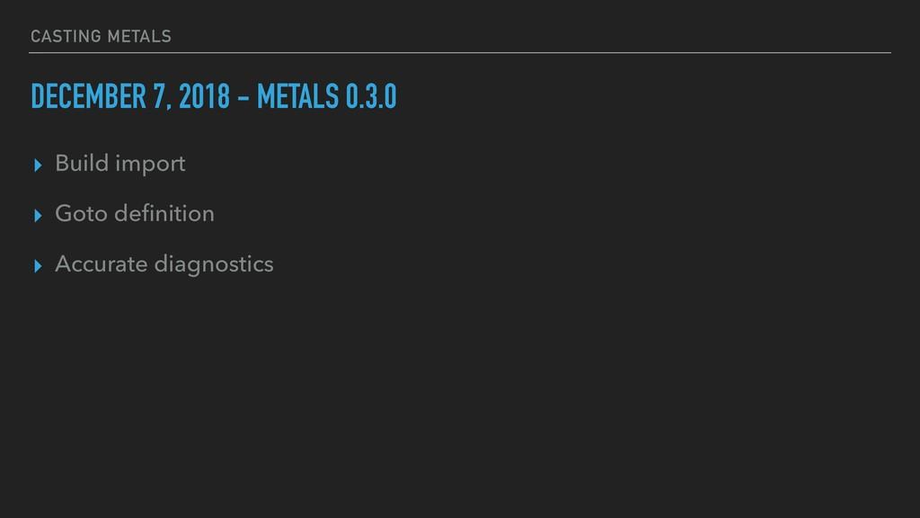 CASTING METALS DECEMBER 7, 2018 - METALS 0.3.0 ...