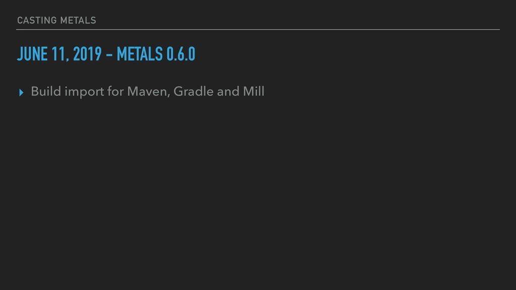 CASTING METALS JUNE 11, 2019 - METALS 0.6.0 ▸ B...