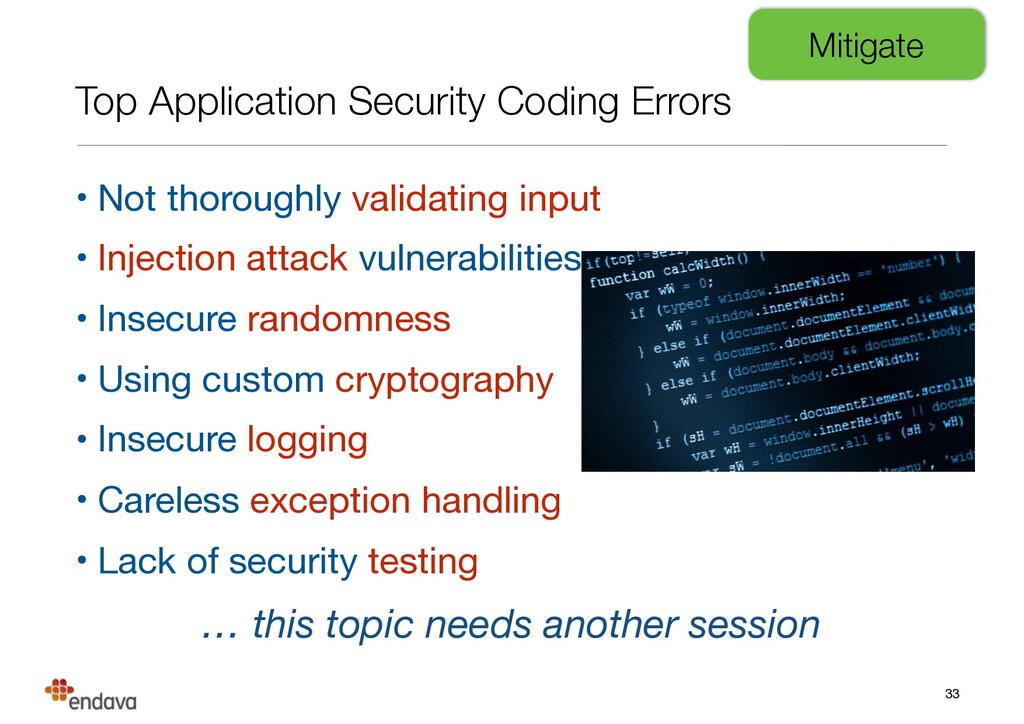 Top Application Security Coding Errors • Not th...