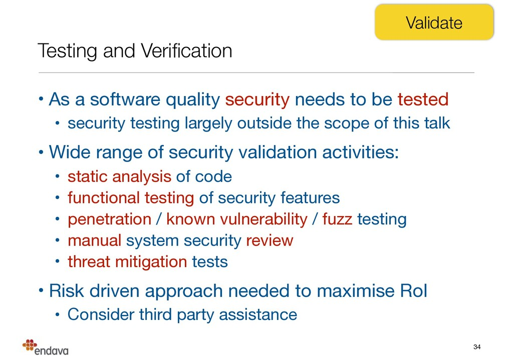 Testing and Verification • As a software quality...