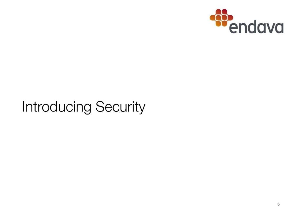 Introducing Security 5