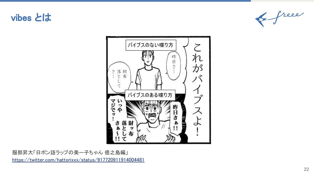 22 vibes とは 服部昇大「日ポン語ラップの美ー子ちゃん 徳之島編」 https://t...