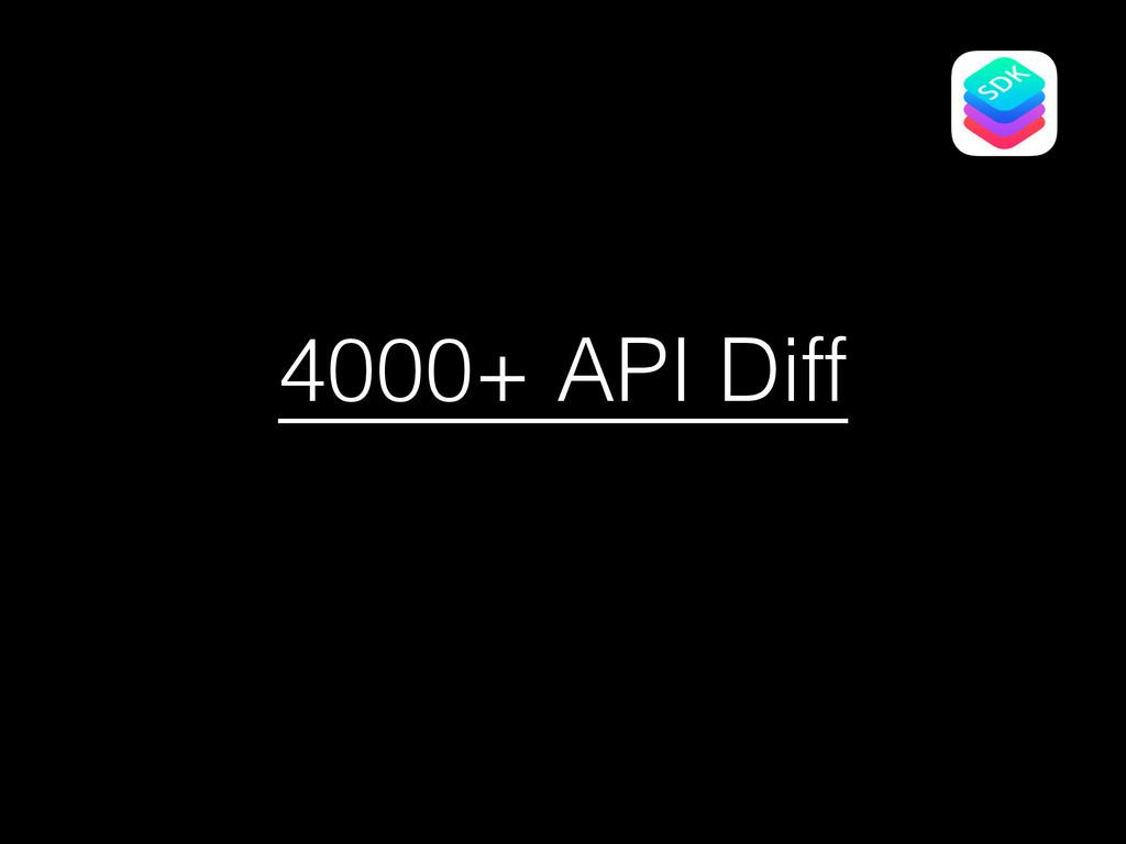 4000+ API Diff
