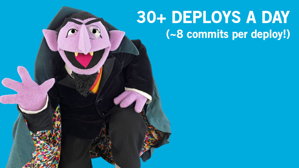 30+ DEPLOYS A DAY (~8 commits per deploy!)