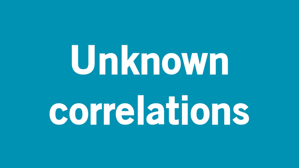 Unknown correlations