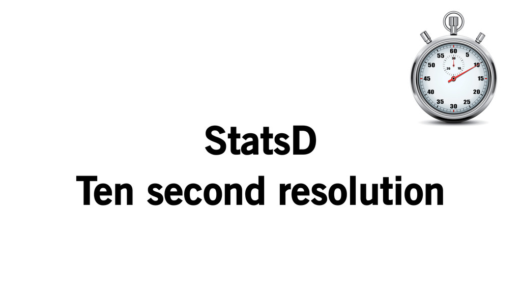 StatsD Ten second resolution