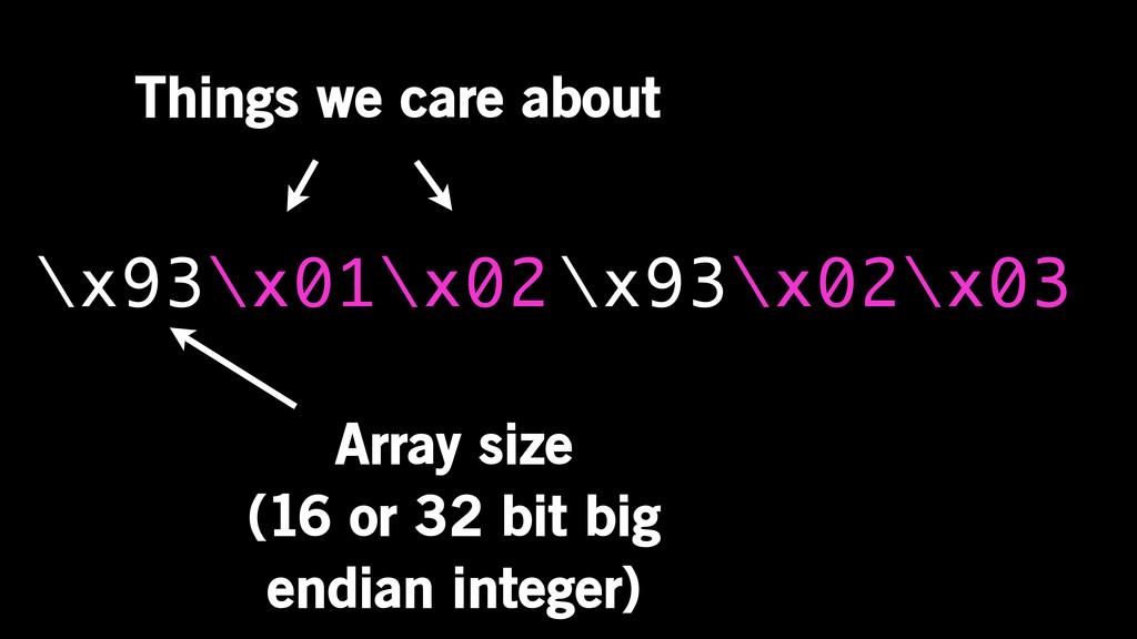 \x93\x01\x02 Array size (16 or 32 bit big endia...