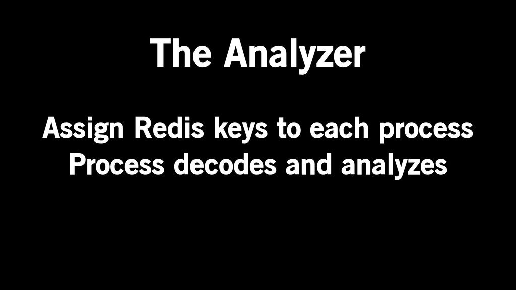 Assign Redis keys to each process Process decod...