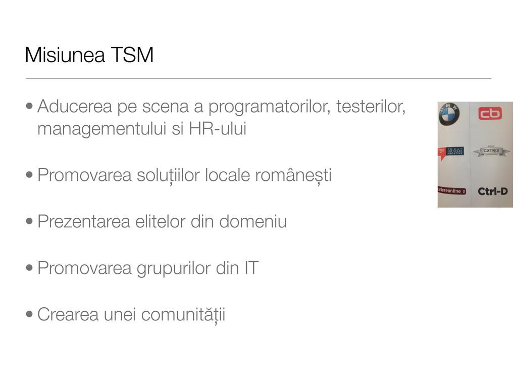 Misiunea TSM • Aducerea pe scena a programatori...