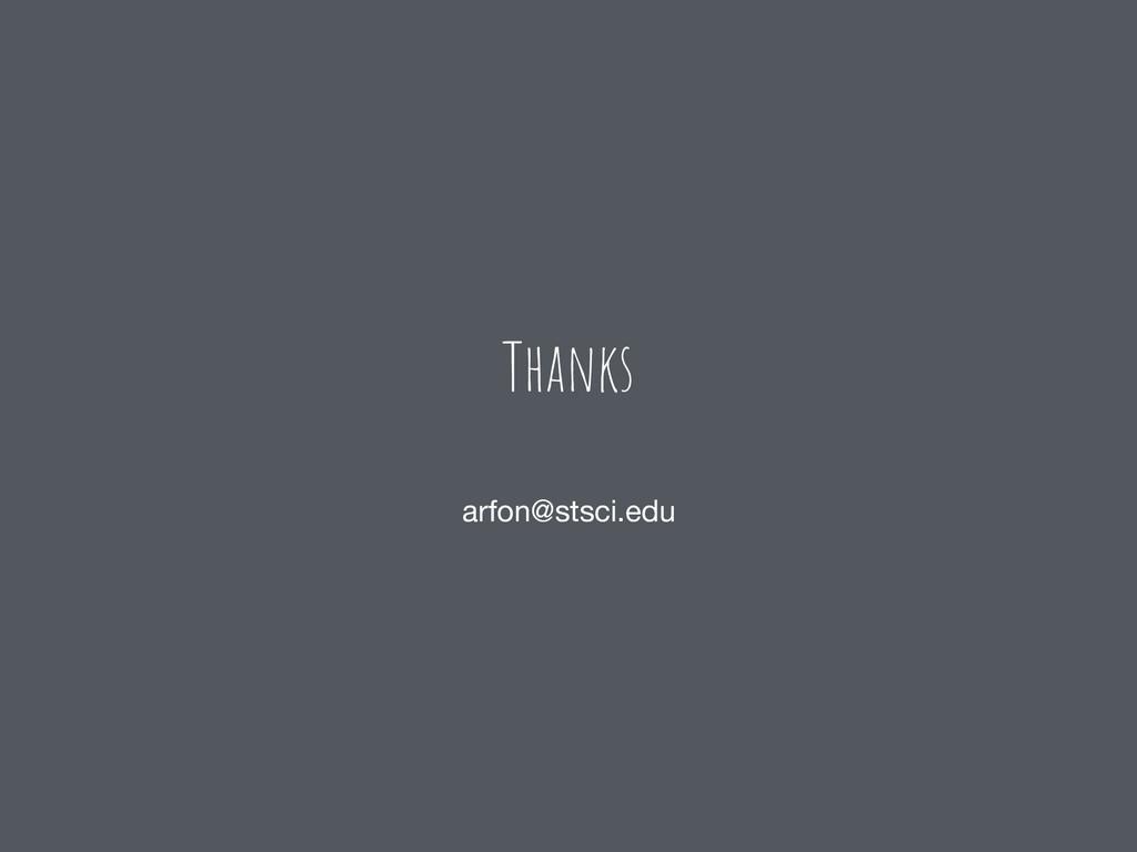 Thanks arfon@stsci.edu