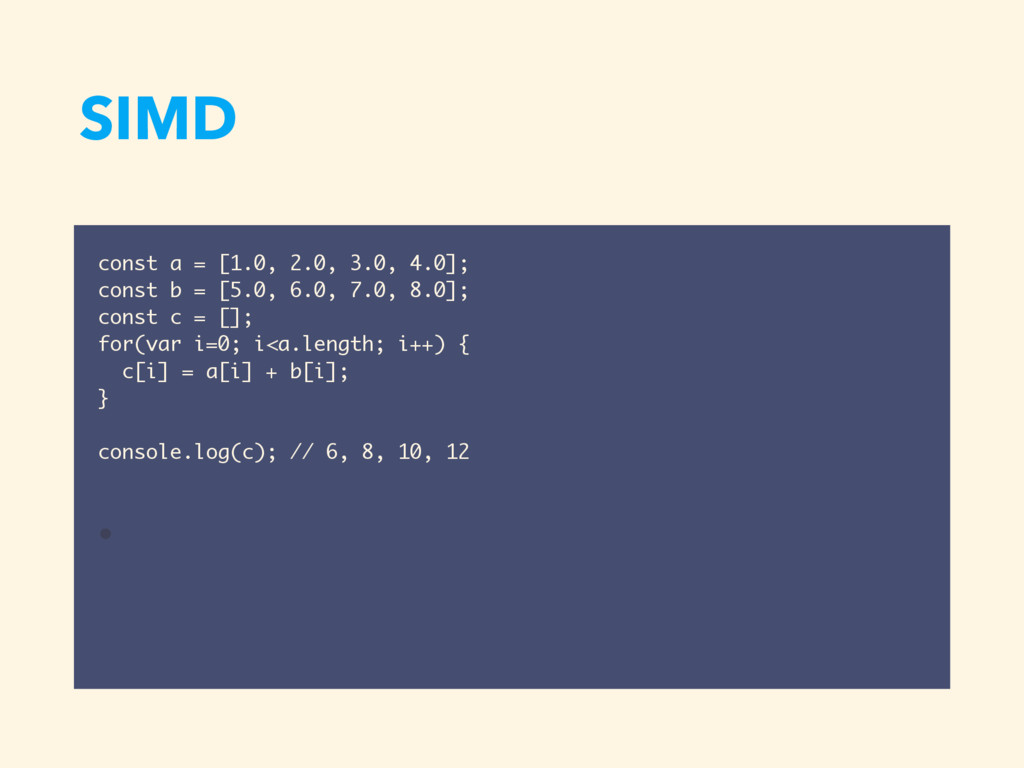 SIMD const a = [1.0, 2.0, 3.0, 4.0]; const b = ...