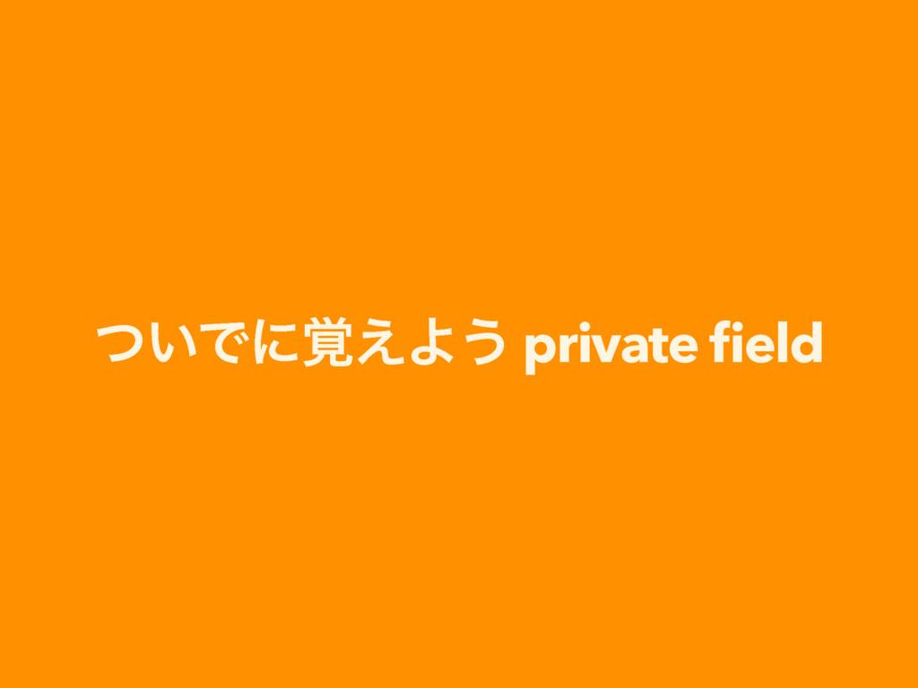 ͍ͭͰʹ֮͑Α͏ private field