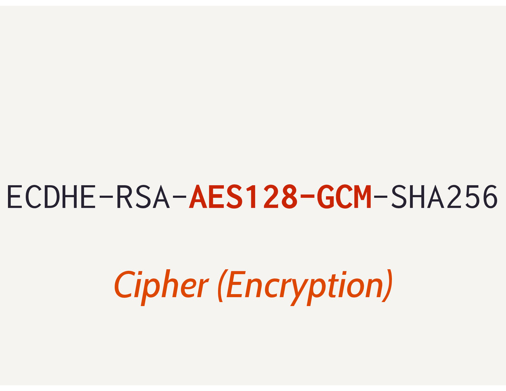 ECDHE-RSA-AES128-GCM-SHA256 Cipher (Encryption)