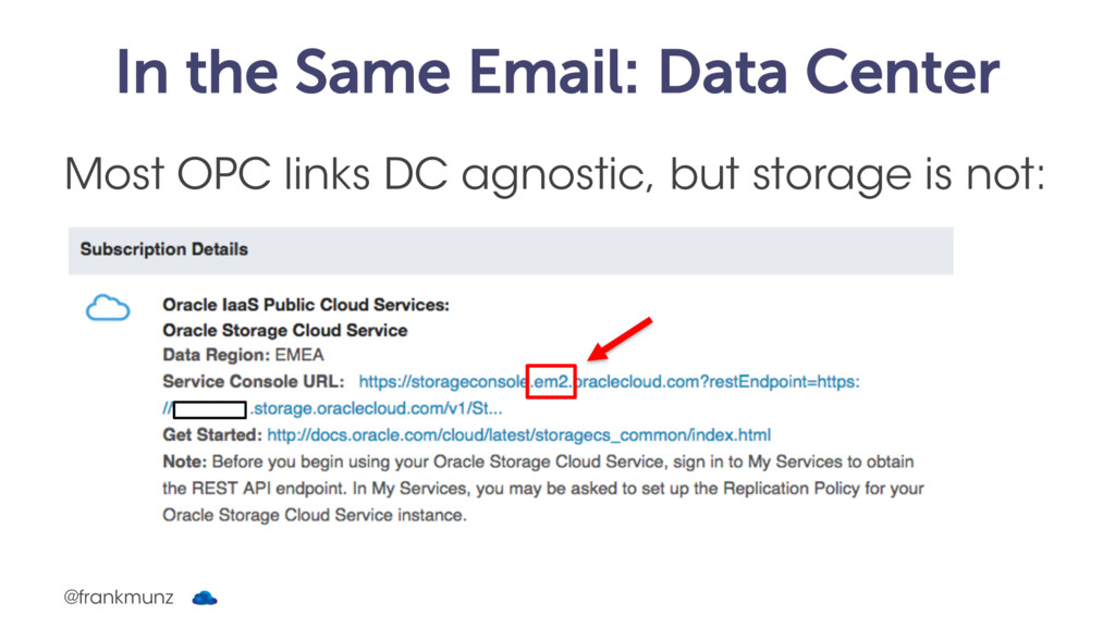 In the Same Email: Data Center Most OPC links D...